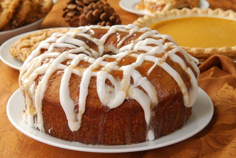 Gâteau de bundt d'Apple photo libre de droits