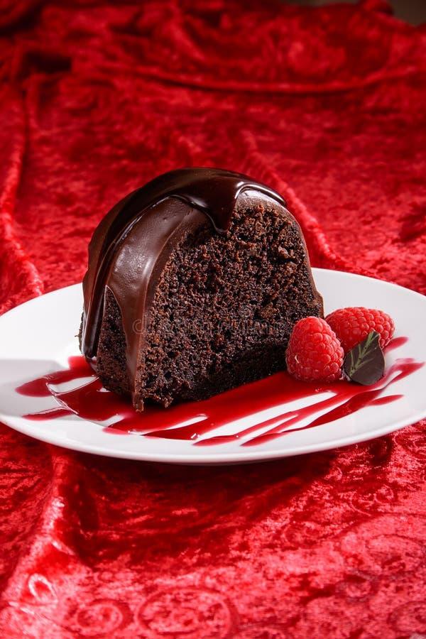 Gâteau de Bundt de chocolat image stock