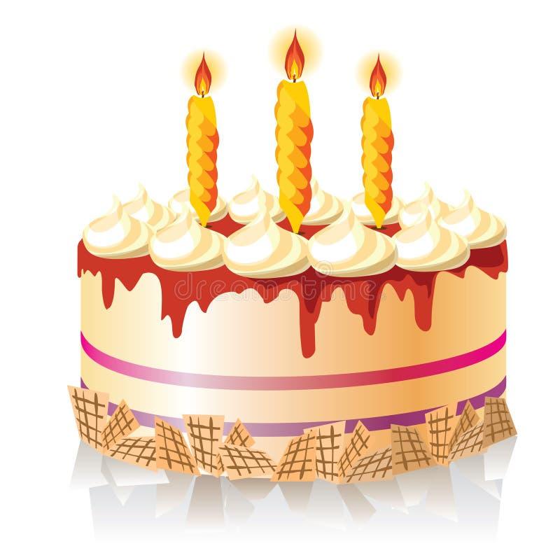 Gâteau de célébration illustration stock