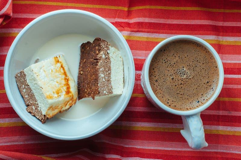 Gâteau de cacao de fromage blanc photographie stock libre de droits