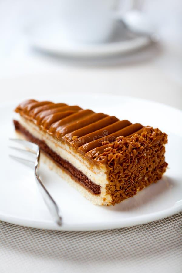 Gâteau de caramel photo stock