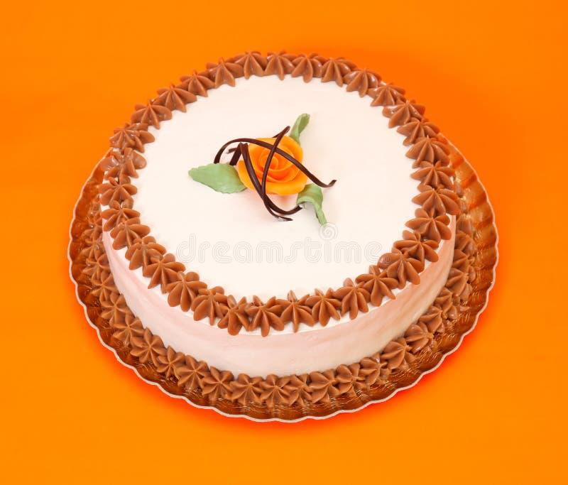 Gâteau de caramel image stock