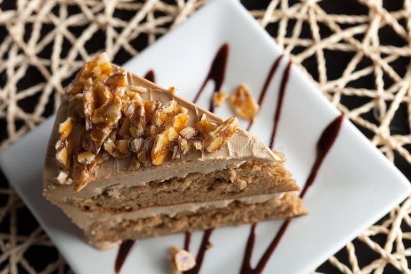 Gâteau de caramel d'amande photo libre de droits