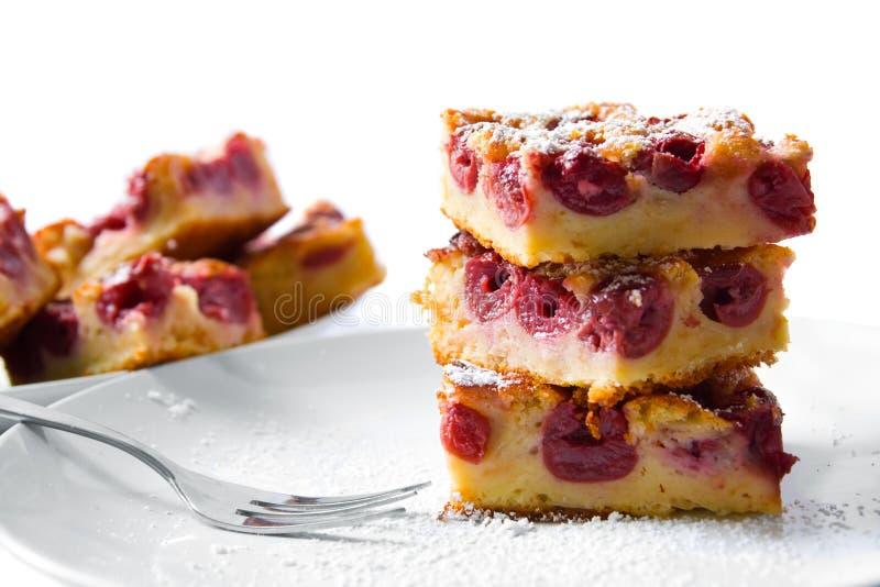 Gâteau de cerise photos stock