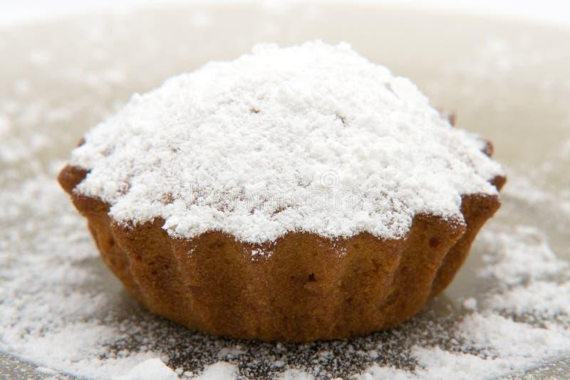 Gâteau de cerise avec la poudre de sucre photo libre de droits