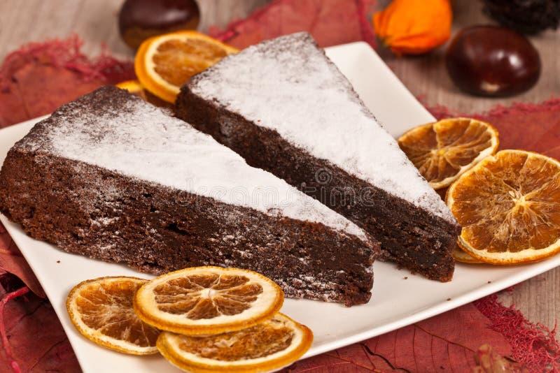 Gâteau de châtaigne photo stock