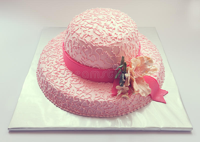 Gâteau de chapeau photos libres de droits