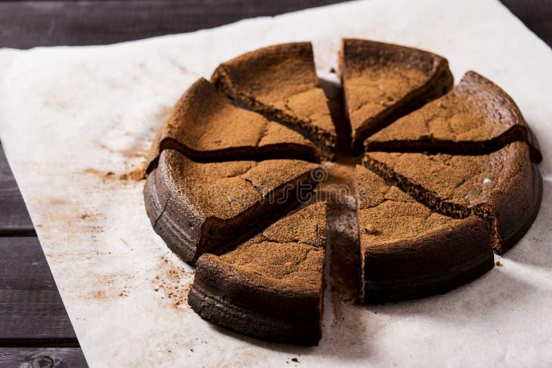 Gâteau de chocolat avec le ricotta images libres de droits