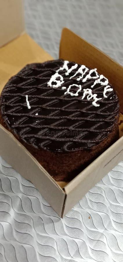 Gâteau de chocolat de CCD image libre de droits