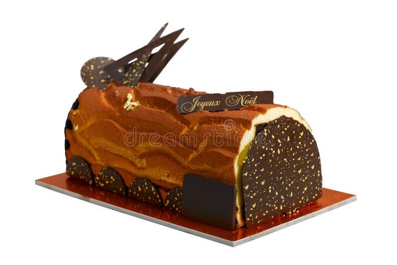 Gâteau de chocolat de logarithme naturel photo libre de droits
