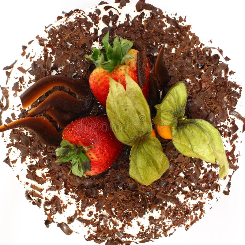 Gâteau de chocolat - dessus photo libre de droits