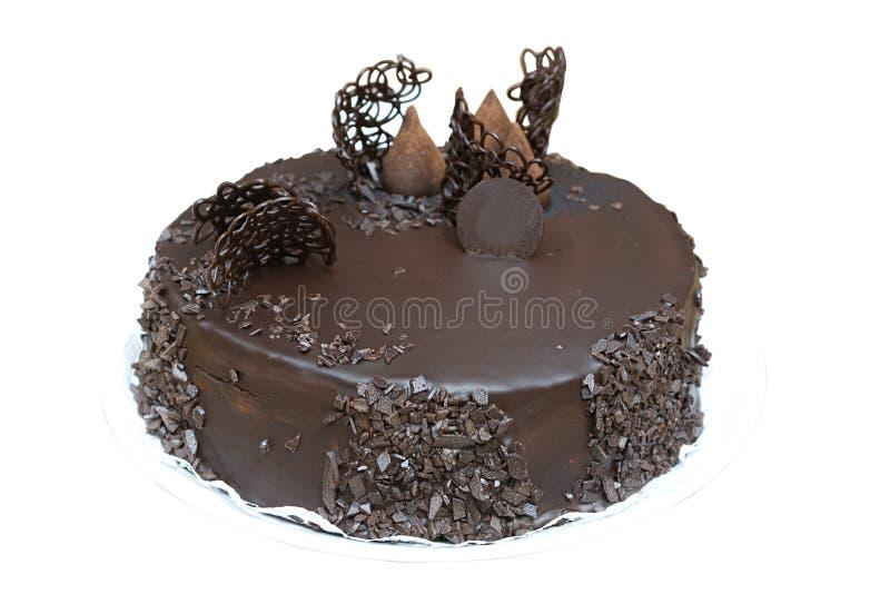 Gâteau de chocolat - entier images stock