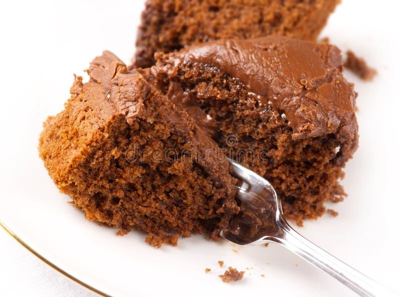Gâteau de chocolat riche images stock
