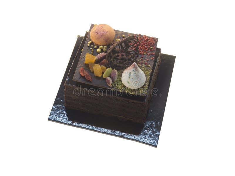 Gâteau de chocolat de Sacher photographie stock libre de droits