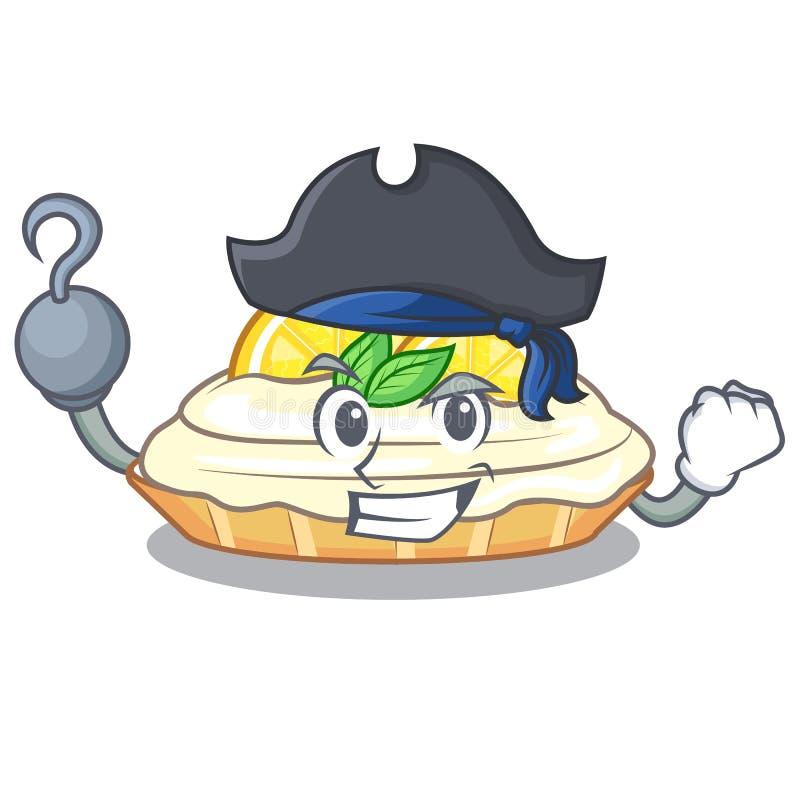 Gâteau de citron de bande dessinée de pirate avec la poudre de sucre illustration libre de droits