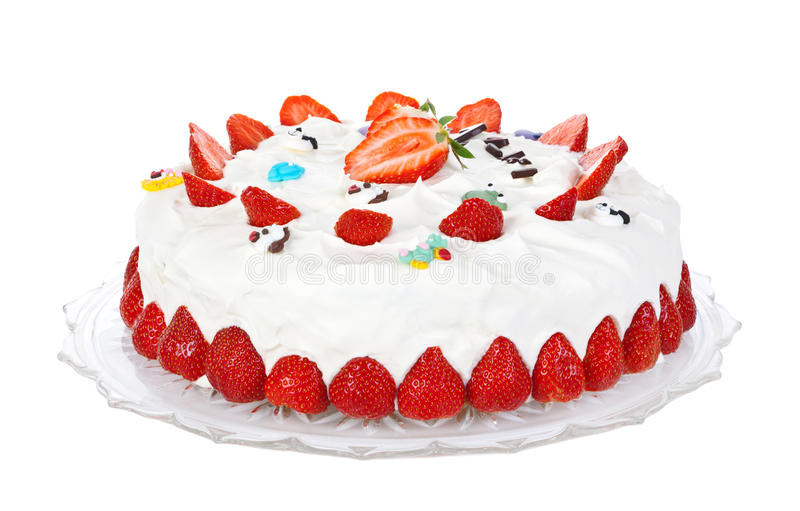 Gâteau de crème de fraise photographie stock libre de droits