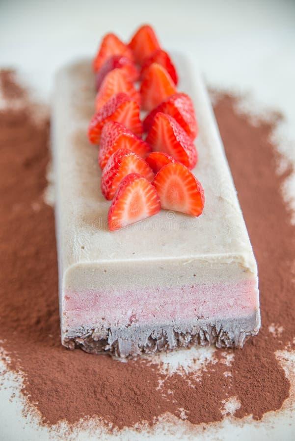 Gâteau de crème glacée napolitain photo libre de droits