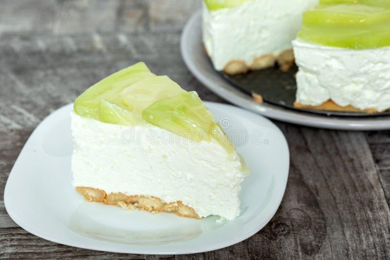 Gâteau de crème de melon image libre de droits