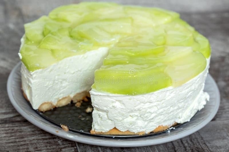 Gâteau de crème de melon images stock