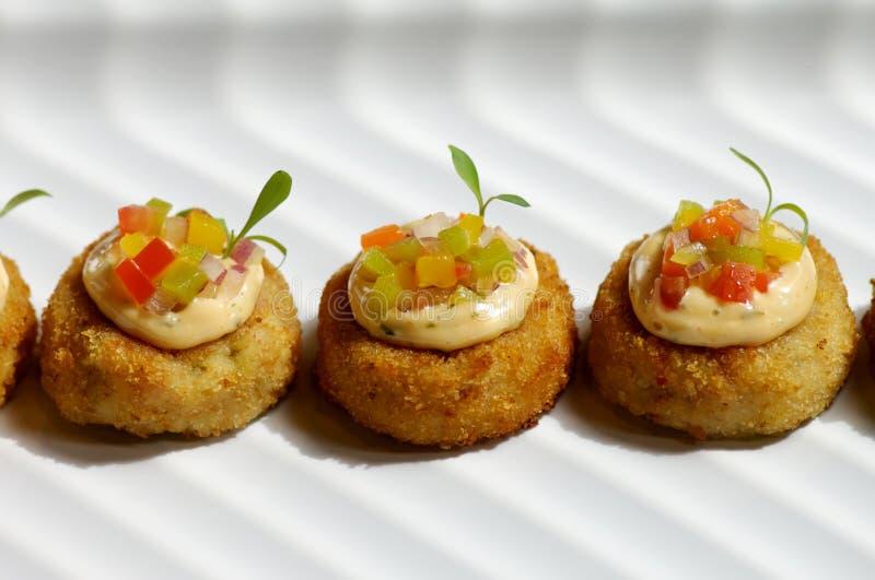 Gâteau de crabe images stock