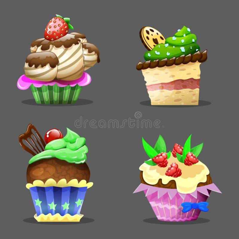 Gâteau de dessin animé Illustration de vecteur illustration stock