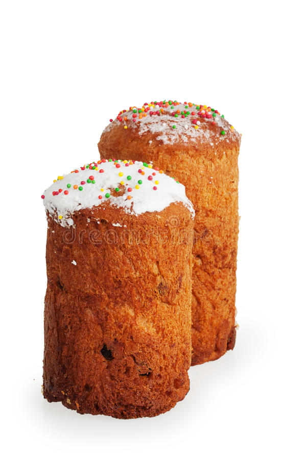 Gâteau de deux Pâques image stock