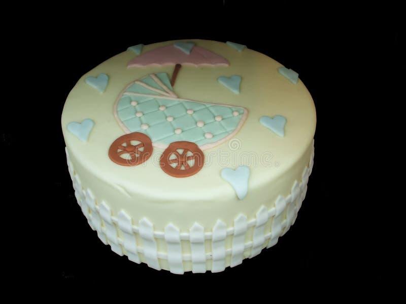 Gâteau de douche de chéri photo stock