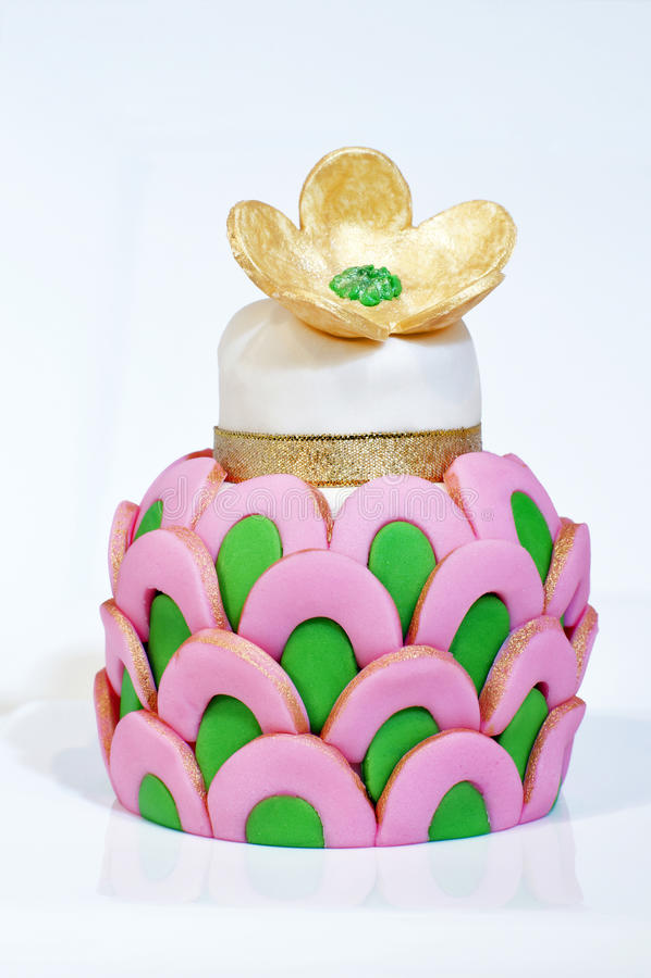 Gâteau de fantaisie images libres de droits