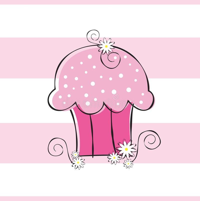 Gâteau de fleur illustration de vecteur