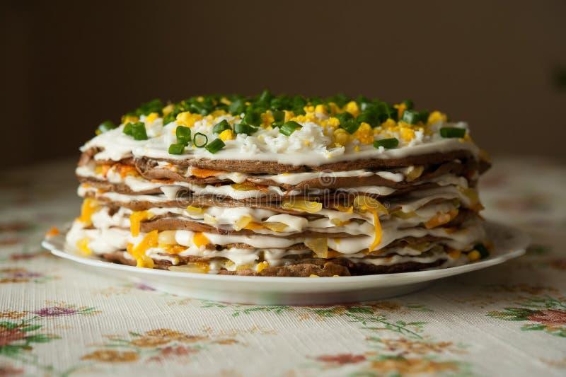 Gâteau de foie photographie stock libre de droits