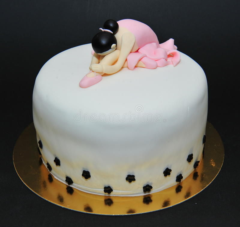 Gâteau de fondant de ballerine photos libres de droits