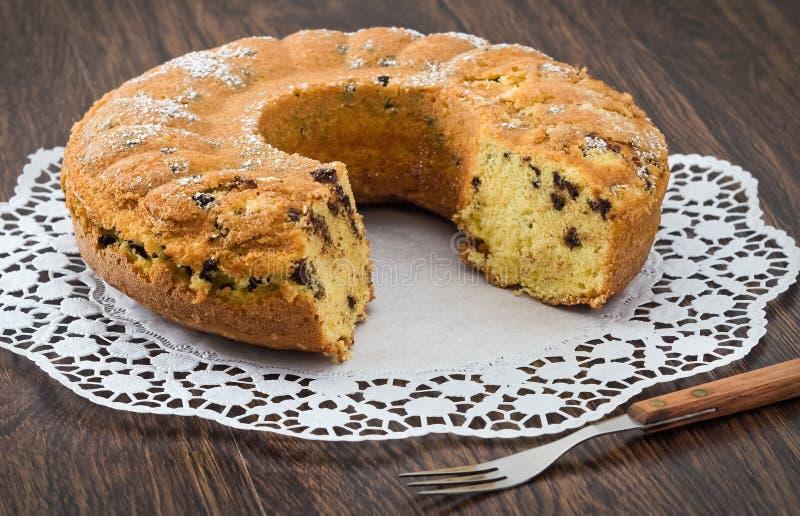 Gâteau de forme annulaire. image libre de droits