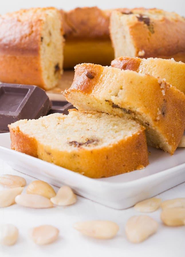 Gâteau de forme annulaire. photographie stock libre de droits