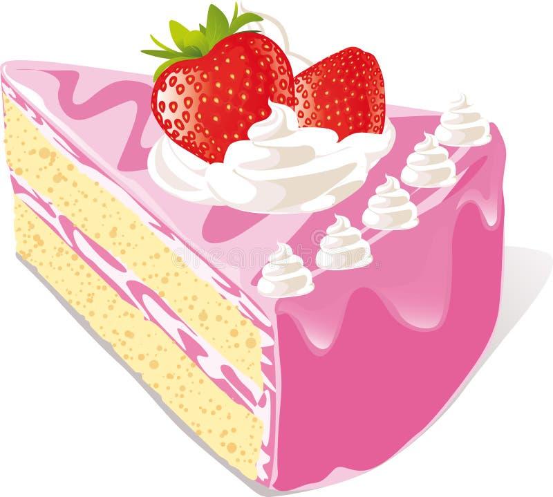 Gâteau de fraise illustration stock