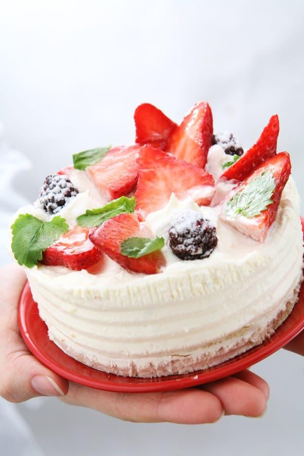 Gâteau de fraise photos stock