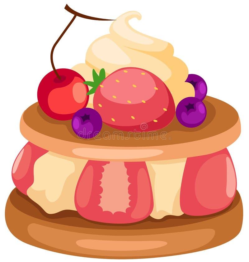 Gâteau de fruit illustration libre de droits