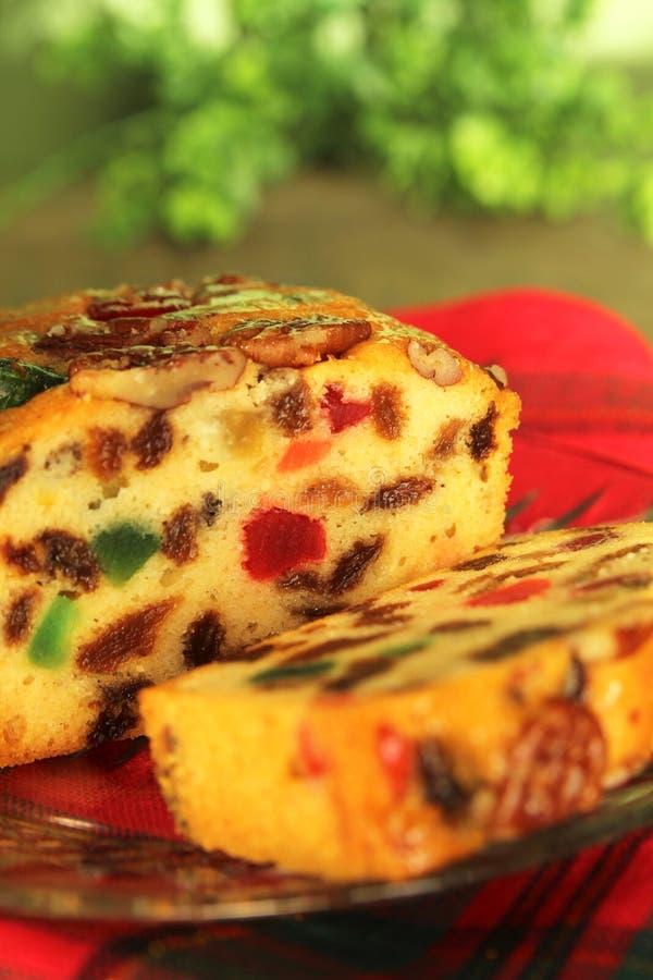 Gâteau de fruit de Noël photographie stock libre de droits