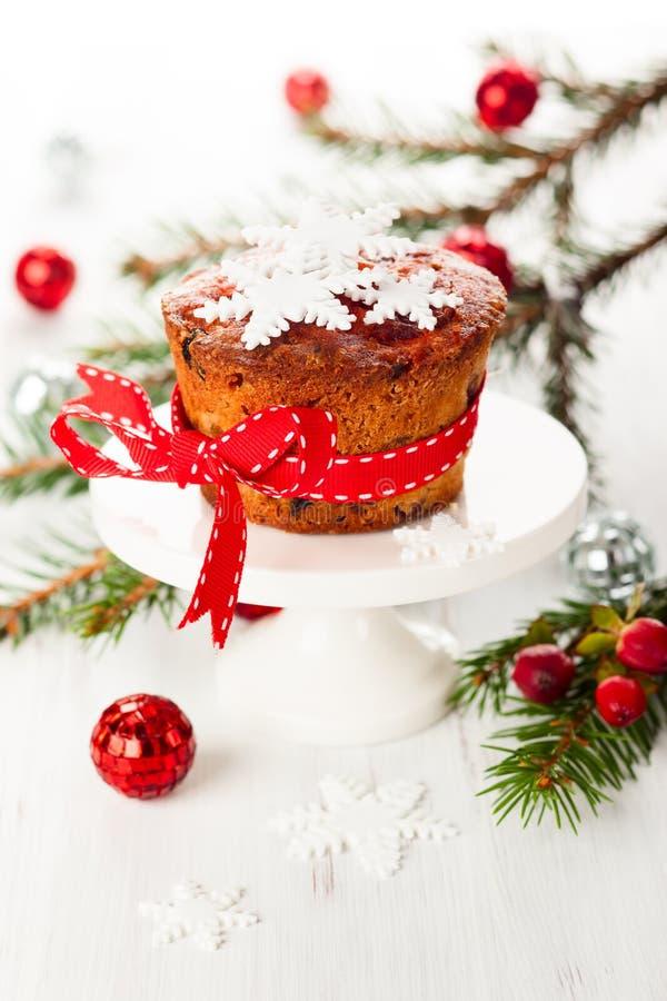 Gâteau de fruit de Noël image stock