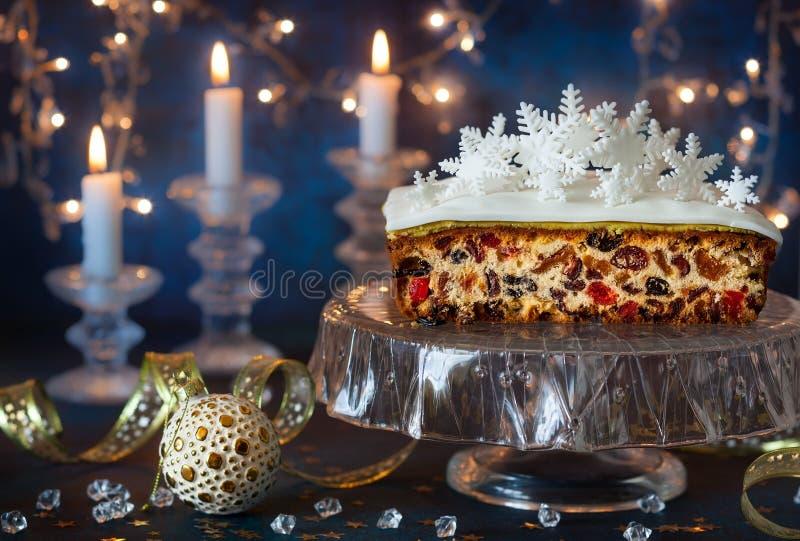 Gâteau de fruit de Noël photos stock