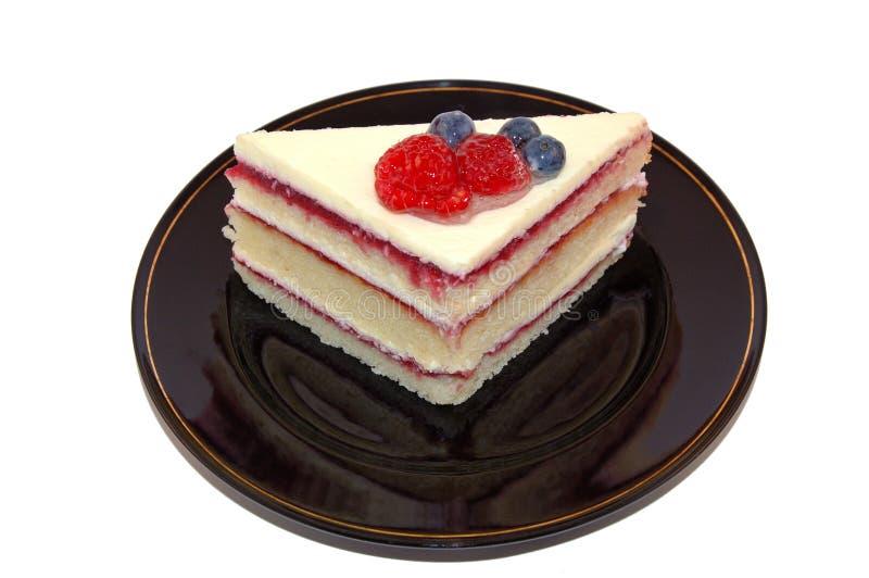 Gâteau de fruit pour le dessert images libres de droits