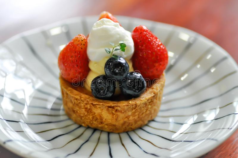 Gâteau de fruit, tarte de fruit ou tarte de fruit images libres de droits