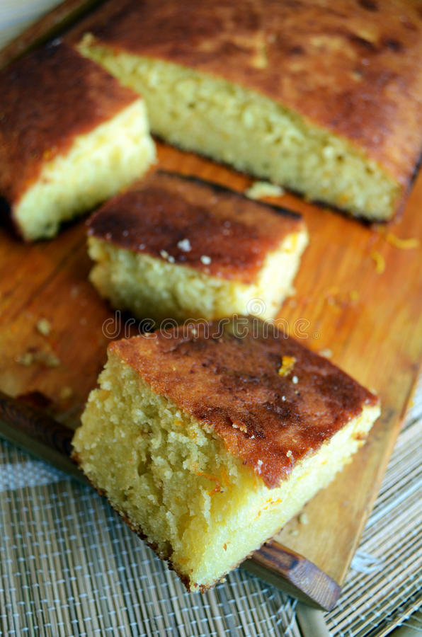 Gâteau de fruits secs d'agrume photos stock