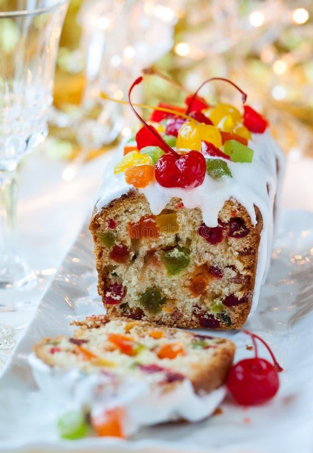 Gâteau de fruits secs de Noël images libres de droits