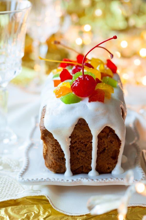 Gâteau de fruits secs de Noël image libre de droits