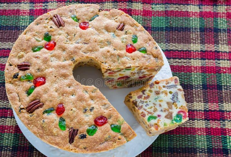 Gâteau de fruits secs de Noël photos libres de droits