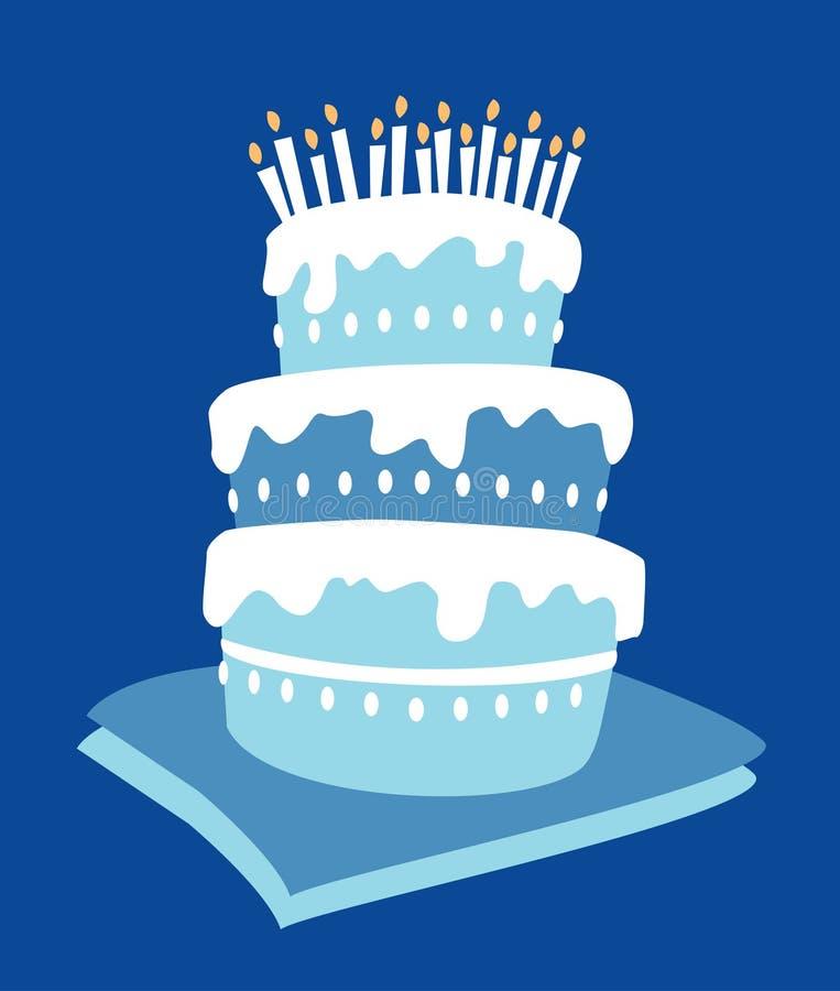 Gâteau de garçon d'anniversaire illustration stock