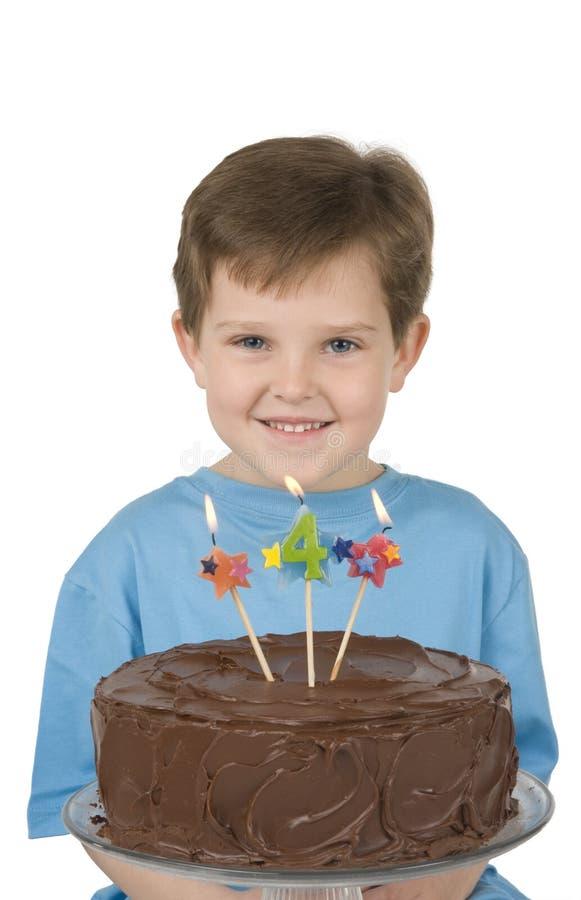gâteau de garçon d'anniversaire photographie stock libre de droits
