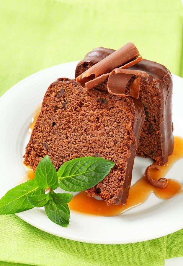 Gâteau de gingembre de chocolat image stock