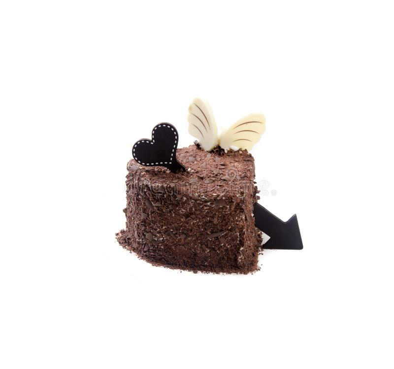 Gâteau, gâteau de glace sur le fond photos libres de droits