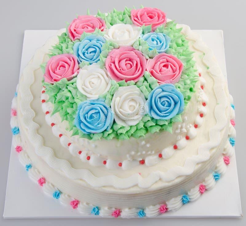 Gâteau, gâteau de glace sur le fond photo libre de droits